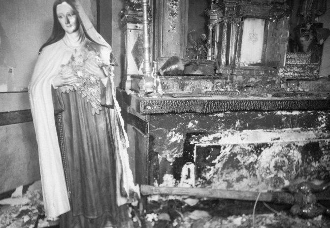 Uno de los cientos de casos de cristianofobia durante la II república.