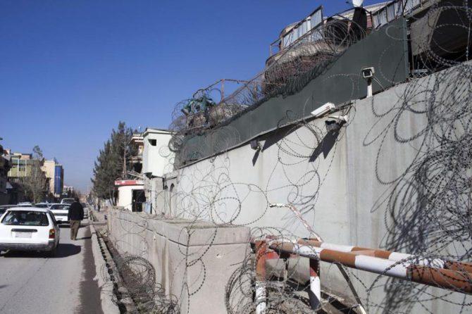 Exterior de la embajada española en Afganistán