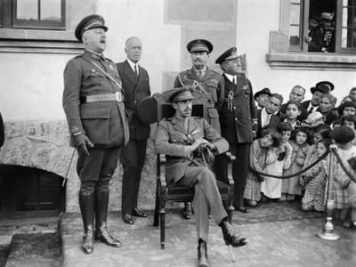 El general Berenguer y el rey Alfonso XIII