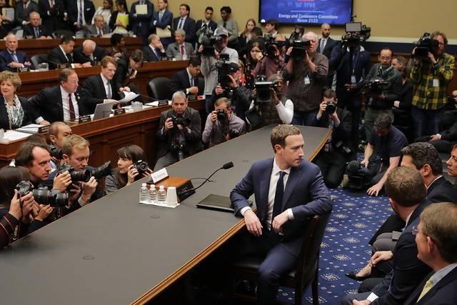 Mark Zuckerberg, este miércoles ante la Cámara de Representantes de EEUU.