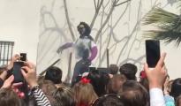 La muñeca «linchada» durante la «Quema de Judas» de Coripe el pasado Domingo de Resurrección - ABC