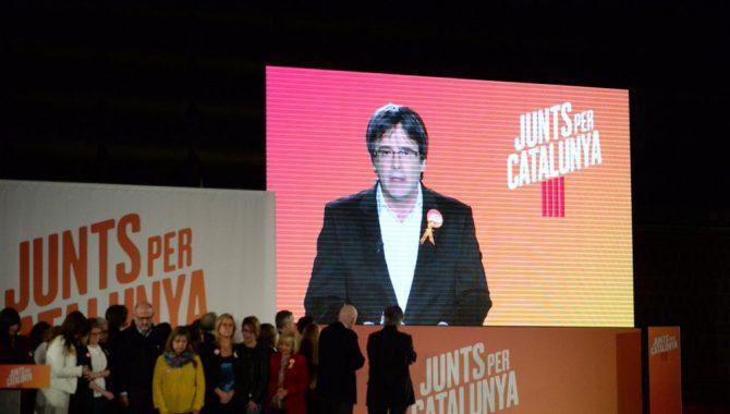 Puigdemont abriendo la campaña electoral del 21D por videoconferencia