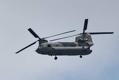 Un helicóptero Chinook, en una imagen de archivo.