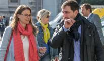 Los exconsellers catalanes Toni Comín y Meritxell Serret -