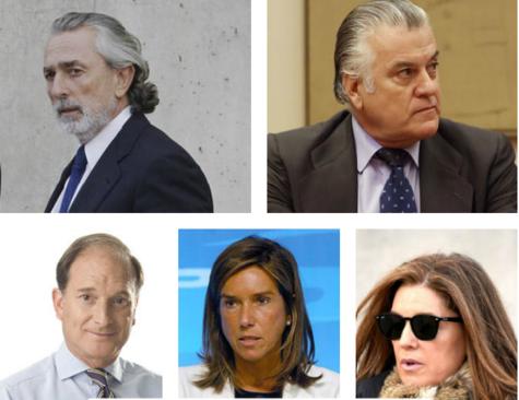 Francisco Correa, Luis Bárcenas, Jesús Sepúlveda, Ana Mato y Rosalía Iglesias, algunos de los condenados.