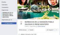 Una imagen del evento creado en Facebook que convoca una barbacoa en la mansión de Pablo Iglesias e Irene Montero/Facebook
