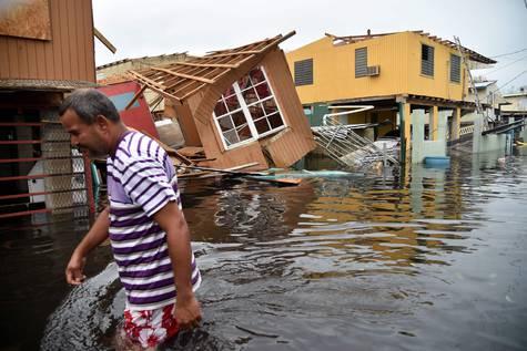 Foto de archivo del paso del huracán María en Puerto Rico