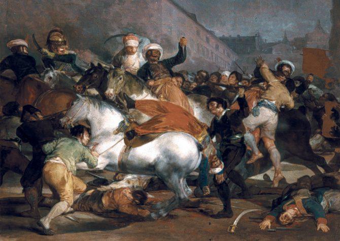 Patriotas españoles contra la invasión napoleónica.