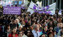 Manifestación feminista en Madrid en protesta por la sentencia del juicio a 'La Manada'.