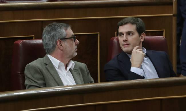 Albert Rivera y José Manuel Villegas.