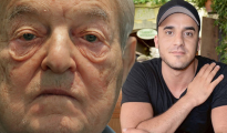 Fotomontaje de George Soros y Bechir Rabani, el periodista sueco recientemente asesinado/ Imagen: Wuc-News
