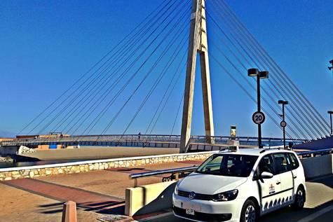 Una imagen del servicio de taxis en Fuengirola.