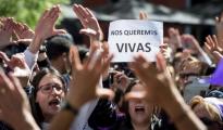 Concentración de mujeres contra el fallo judicial de «La Manada».
