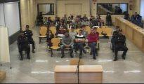 Los acusados, durante el juicio en el banquillo de la Audiencia Nacional.