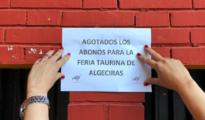 Cartel de No hay abonos en Algeciras