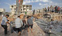 Así ha quedado la zona tras los bombardeos