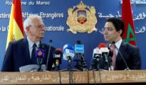 Josep Borrell, junto al ministro marroquí de Exteriores, Naser Burita