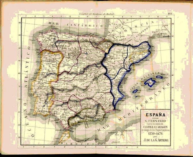 España desde S. Fernando hasta la unión de Castilla y Aragón en tiempo de los Reyes Católicos. 1230-1479.
