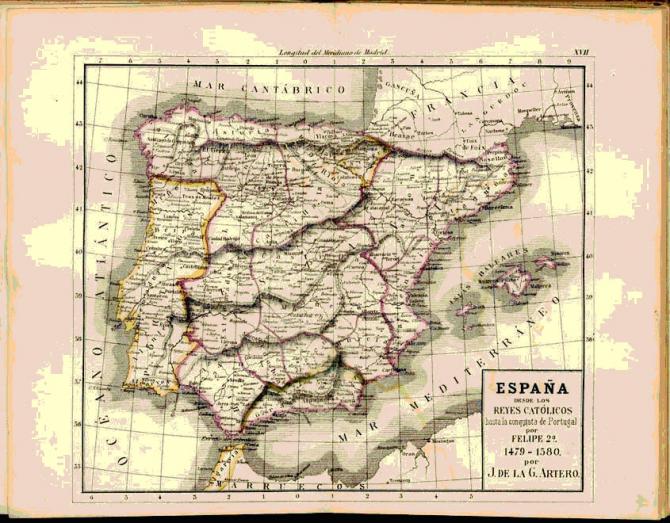 España desde los Reyes Católicos hasta la conquista de Portugal por Felipe 2º. 1479-1580.