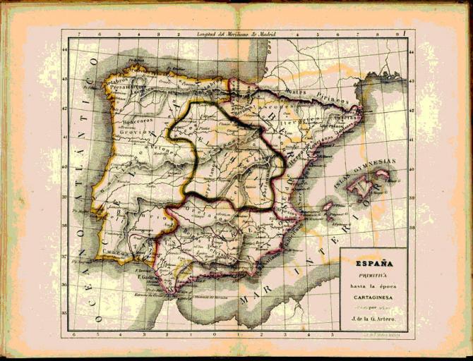 España Primitiva hasta la época Cartaginesa.