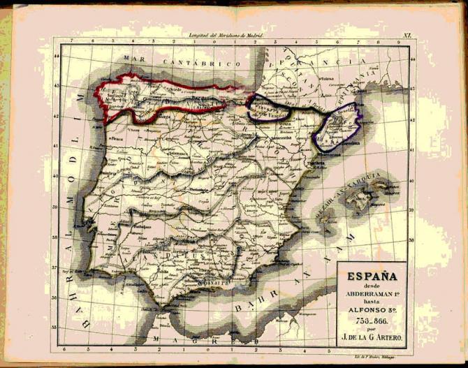 España hasta Alfonso 3º. 756-866.