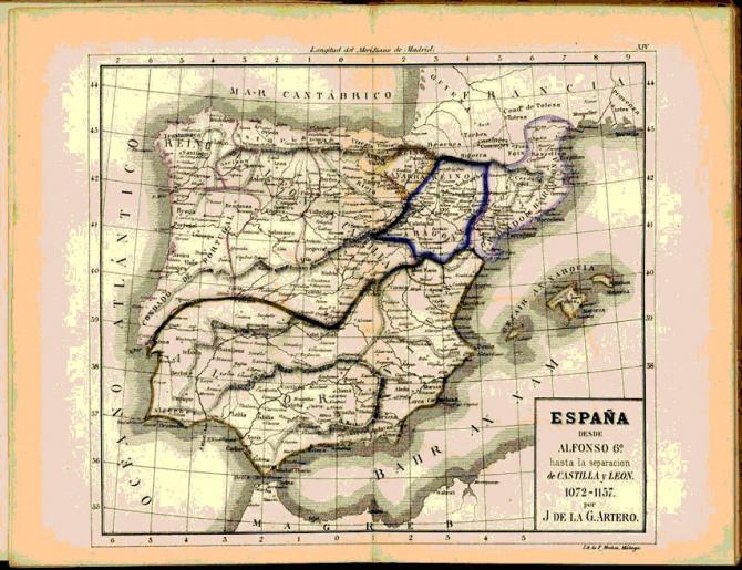 España hasta la separación de Castilla y León. 1072-1157.