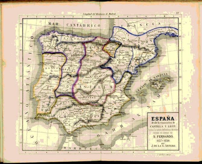 España hasta la unión de estos reinos 1157-1230.