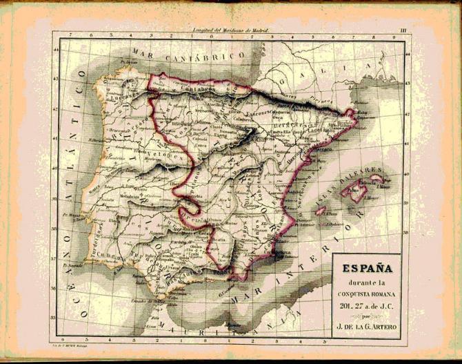 España durante la conquista Romana 201-27 a.J.C.