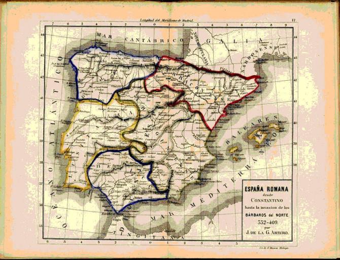 España desde Constantino hasta la invasión Bárbaros 332-409.