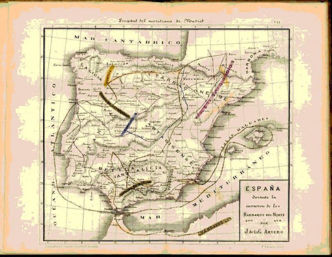 España durante los Bárbaros del Norte 409-428.
