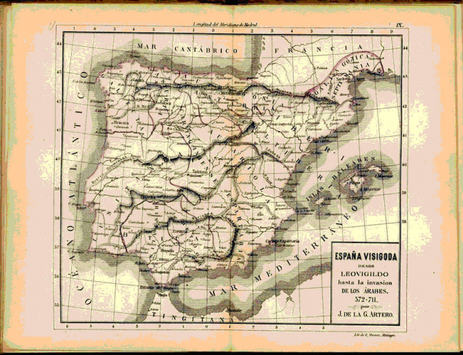 España Visigoda hasta la invasión de los Árabes. 572-711