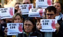 Concentración de apoyo a los Comités de Defensa de la República en Barcelona.