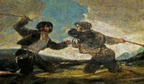 """""""Duelo a garrotazos"""", Goya."""