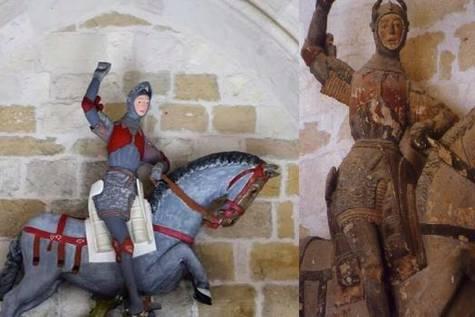 Antes y después del San Jorge de Estella/ Facebook