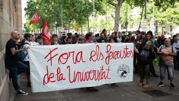 Los estudiantes, en la Universidad de Barcelona (ABC)