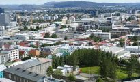 Reikiavik, capital de Islandia.