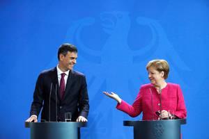 Sánchez y Merkel.