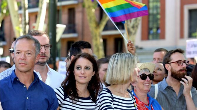 Dirigentes del PP en la marcha del Orgullo Gay.