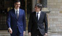 Pedro Sánchez y Carles Puigdemont (El Español)