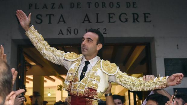 Enrique Ponce, a hombros el pasado año en Vista Alegre