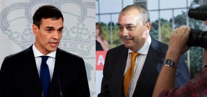 Pedro Sánchez y Armando Robles.