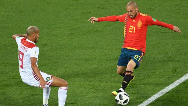 Silva, en el duelo ante Marruecos