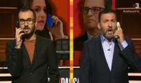 Momento del 'sketc' de «Està passant» que recrea la conversación entre Arrimadas y Torra - TV3