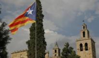 La polémica estelada, en la localidad barcelonesa de Sant Cugat - SCC