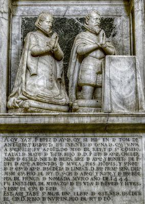 Estatua mortuoria de Elvira de Castañeda y su esposo el conde de Fuensalida, Pedro López de Ayala