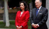 La ministra de Defensa, Margarita Robles, con el director del CNI, Félix Sanz, el pasado 2 de julio en Madrid.