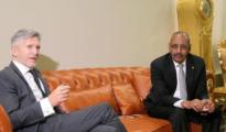 Grande Marlaskay el titular mauritano de Interior, Ahmedou Abdala