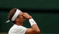 Nadal tras perder en la semifinal de Wimbledon.