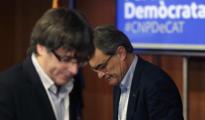 Carles Puigdemont y Artur Mas en un acto del PDECat