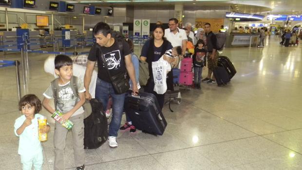 Primeros refugiados procedentes de Grecia, de origen sirio e iraquí, llegados a España en 2016